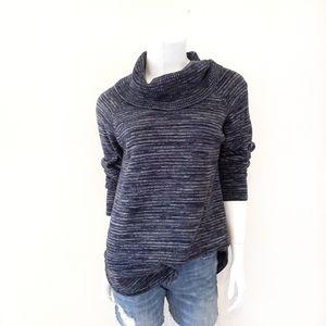 🔥Eight Eight Eight Navy Blue Cowl Neck Sweater